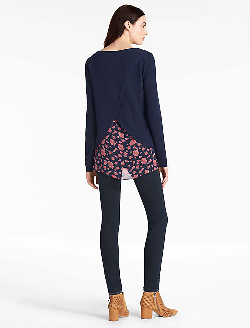 DITSY FLORAL PULLOVER,