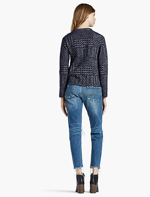 JACQUARD SWEATER JACKET,