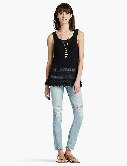 FRINGE SWEATER TANK,