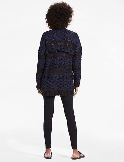 STEVIE CARDIGAN, NAVY MULTI