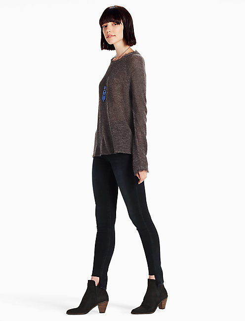 RAYNE PULLOVER, CHARCOAL