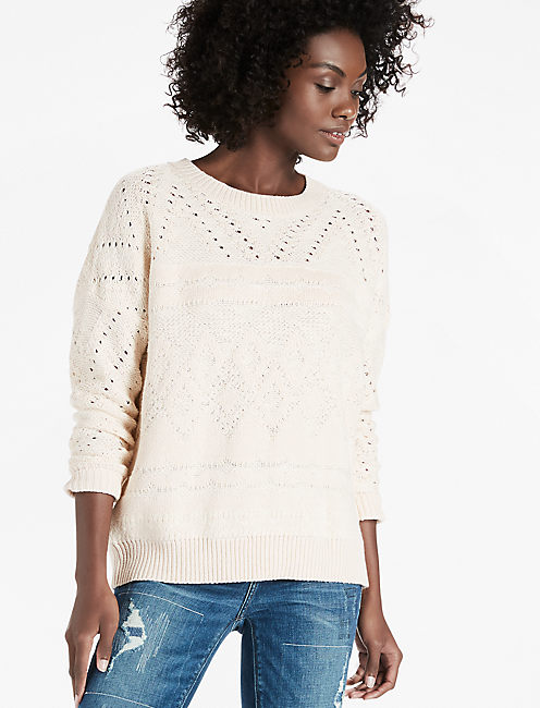 PATTERN PULLOVER, NATURAL MULTI