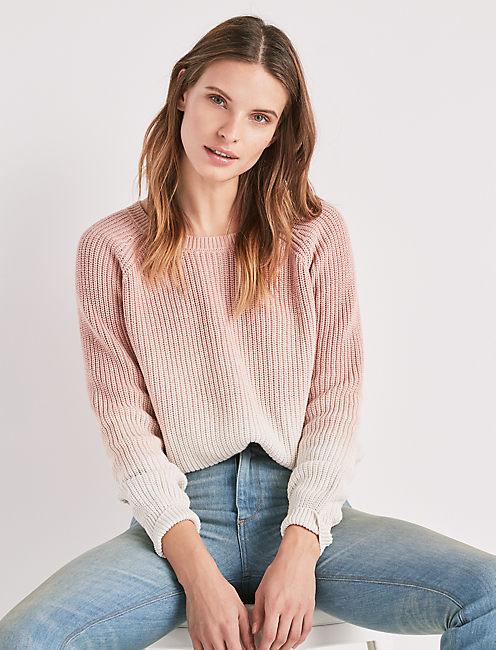 DIP DYE PULLOVER SWEATER,