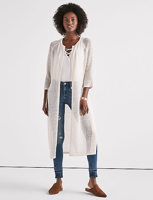 Lucky Lightweight Long Sleeve Duster