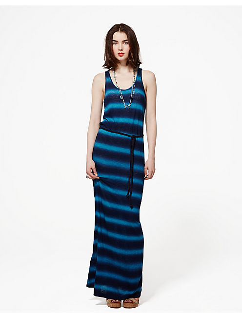 SPRAY TIE DYE MAXI DRESS, BLUE MULTI