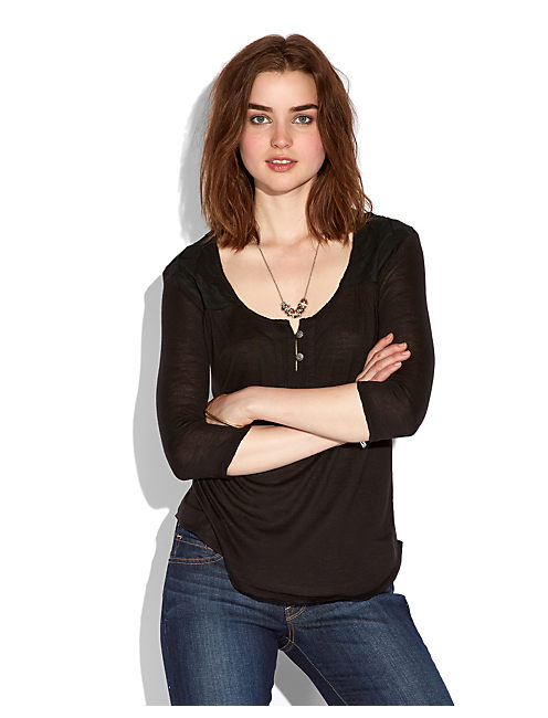 ELIE YOKE TOP, 001 LUCKY BLACK