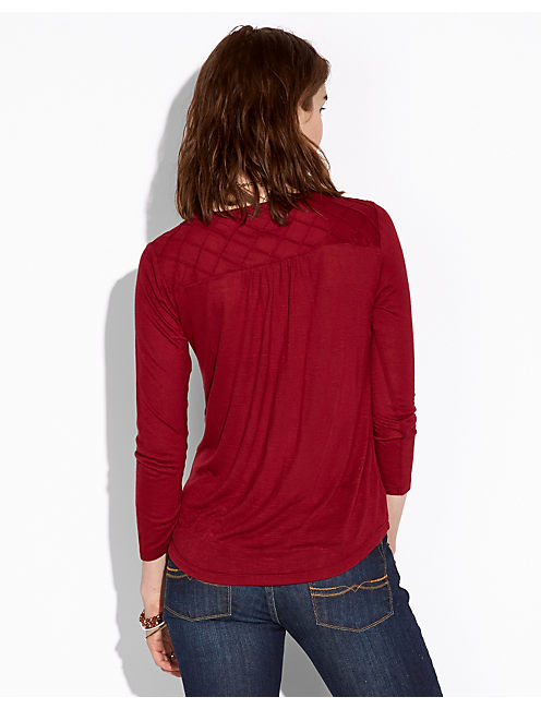 ELIE YOKE TOP, #6690 TIBETAN RED