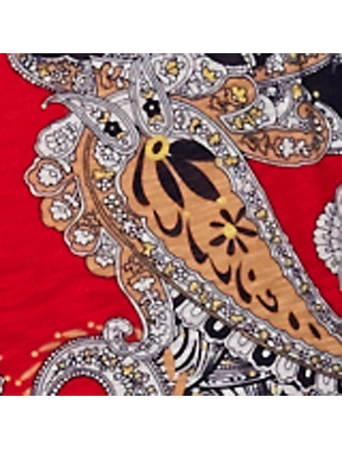 PAISLEY MAXI DRESS, RED MULTI