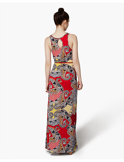 PAISLEY MAXI DRESS, RED MULTI