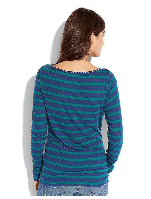 BOATNECK STRIPE TOP, BLUE STRIPE
