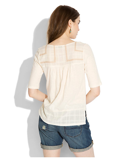 CORONADO MIXED YOKE TOP, #2413 NIGORI