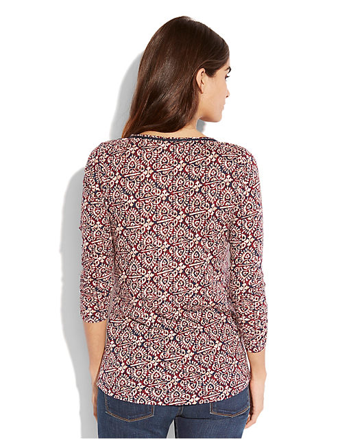 MOROCCAN PRINT TOP, MULTI