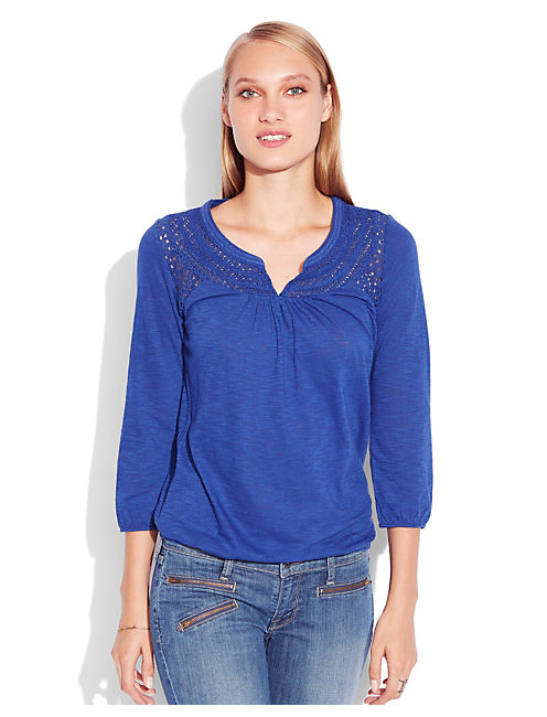 CAMILLA LACE TOP, #40048 SODALITE BLUE