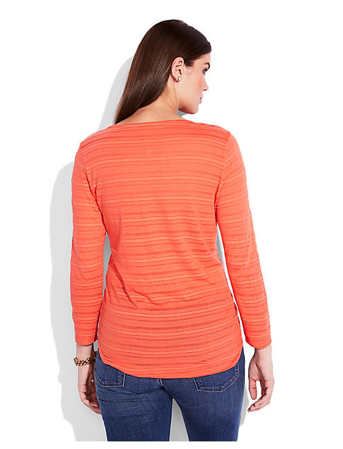 SAHARA EMBROIDERED TOP, #8387 HOT CORAL