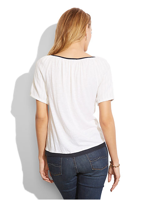 RUTHIE EMBROIDERED TOP, LUCKY WHITE