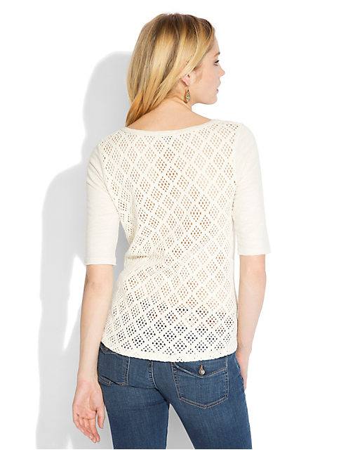 CALISTOGA CROCHET TOP, #2413 NIGORI