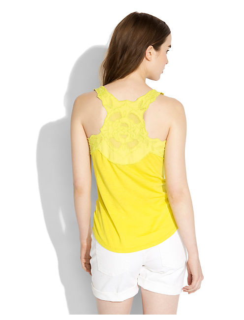 APPLIQUE RACER BACK TANK, #3901 CITRONELLE