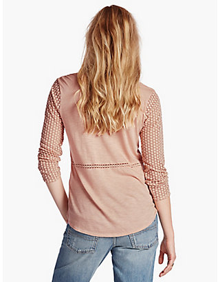 LUCKY LACE PEASANT TOP