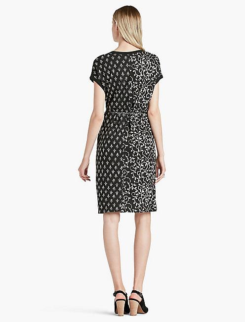 MIXED PRINT DRESS,