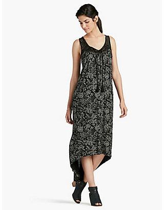 LUCKY BLACK EYELET KNIT DRESS