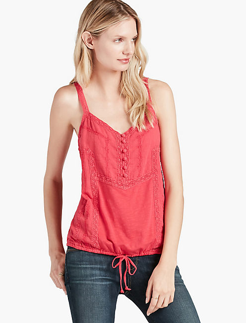 EMBROIDERED CAMI,