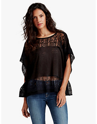 LUCKY SCARF EMBROIDERED TOP