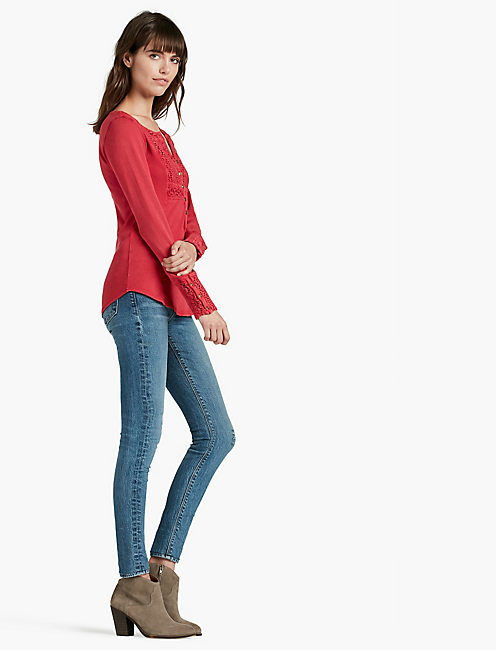 LUCKY Washed Bib Henley Thermal