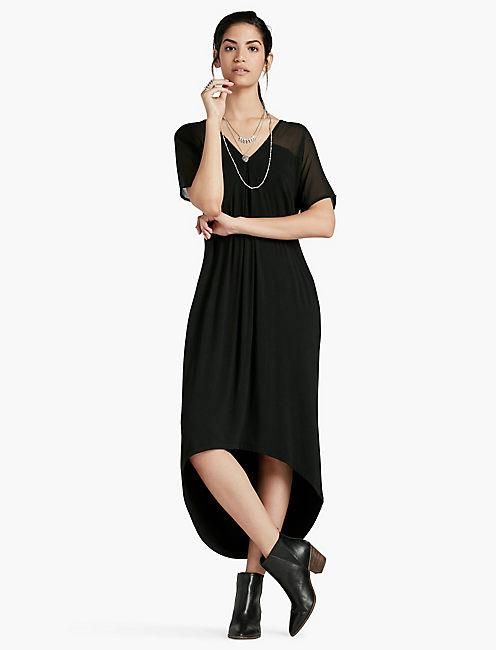 CHIFFON MIXED DRESS,