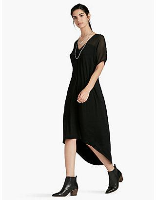 LUCKY CHIFFON MIXED DRESS