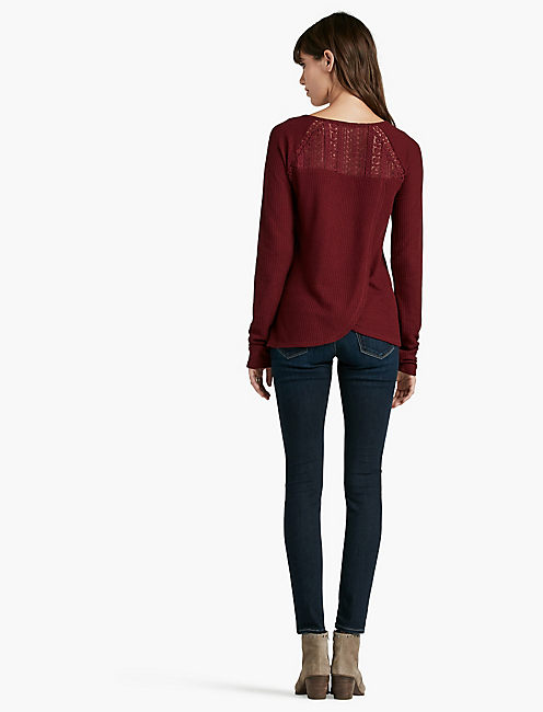 LACE MIXED THERMAL, WILD CURRANT