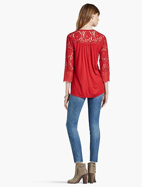 LACE MIX TOP,