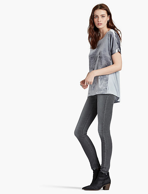 VELVET TOP, DAPPLE GREY