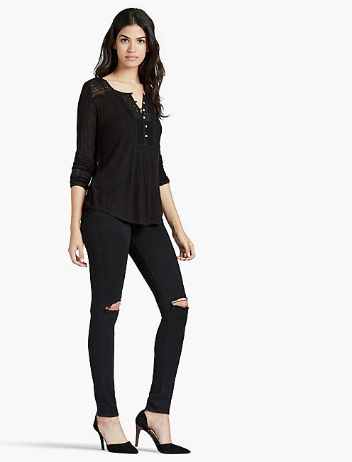 Lucky Drop Needle Knit Top