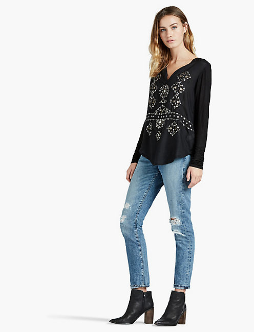 Lucky Embellished Top