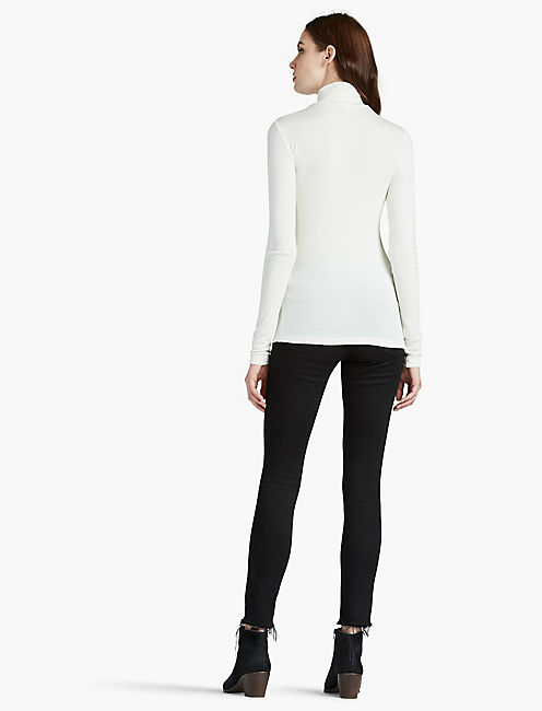 SLIM KNIT TURTLENECK, MARSHMALLOW