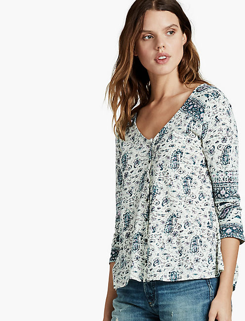 PAISLEY SWING TOP, MULTI