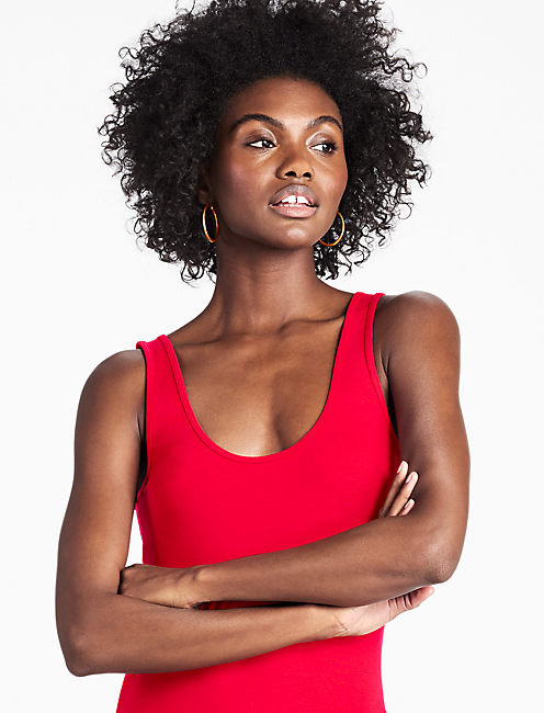 THE DUO REVERSIBLE TANK, TANGO RED