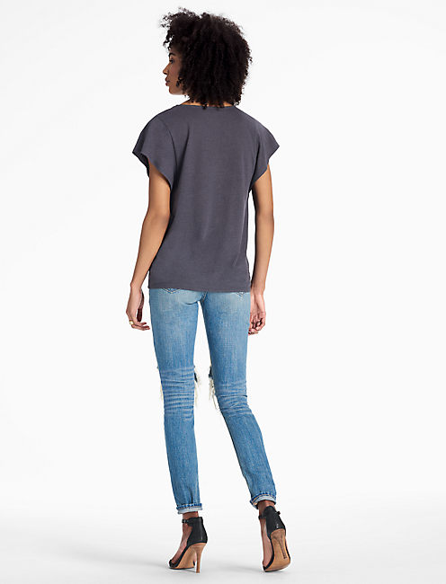V-NECK TEE, NINE IRON
