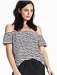 STRIPE OFF THE SHOULDER TOP,