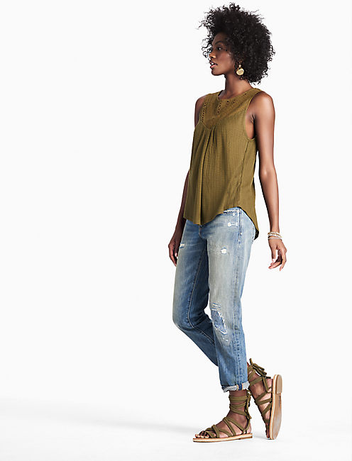 DROP NEEDLE MIX TANK, DARK OLIVE