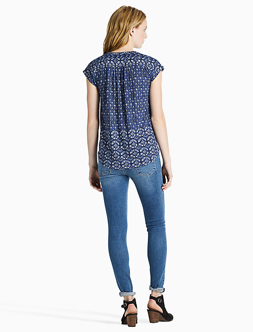 DECANTA BODER TOP, BLUE MULTI