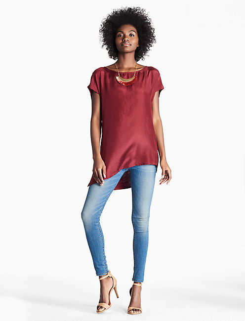 Lucky Solid Silk Mix Top