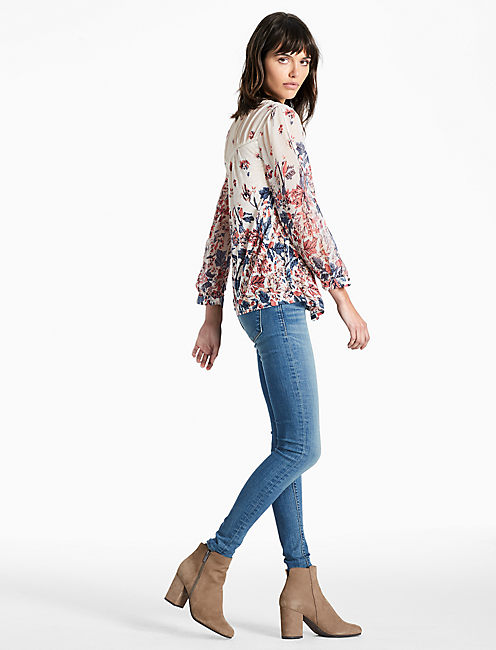 Lucky Floral Mix Print Top