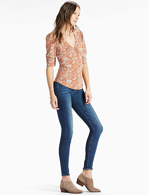 Lucky V Neck Printed Top