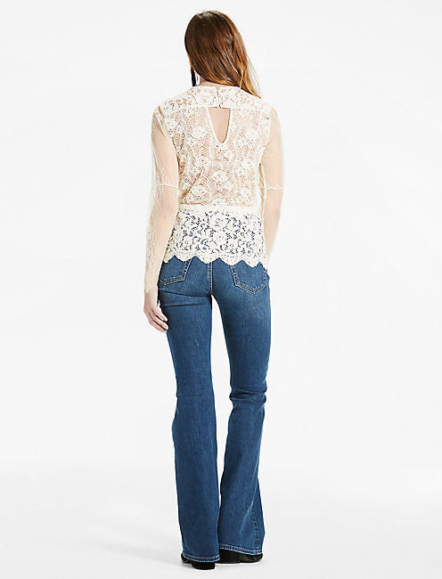 MIXED SCALLOP LACE TOP, BIRCH