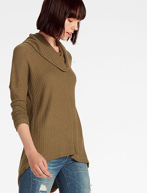 COWLNECK THERMAL, OLIVE NIGHT