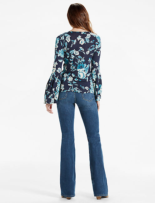 FLORAL BELL SLEEVE TOP,