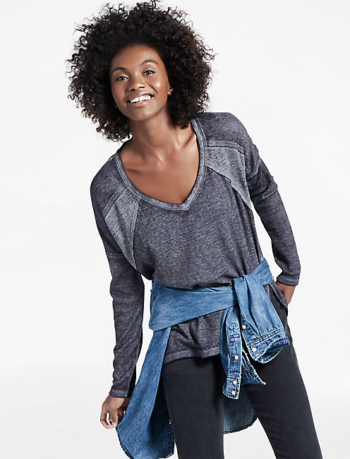 THERMAL MIXED PULLOVER,