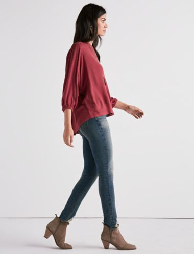 Lucky Drop Needle Dolman Blouse
