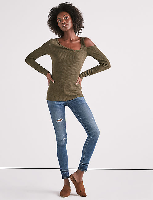 Lucky One Shoulder Cold Shoulder Top